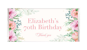 Beautiful Blooms Custom Birthday Chocolate Bar