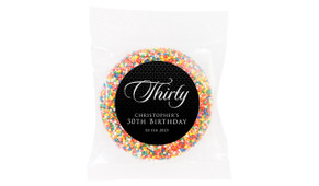 Elegant Black Custom Birthday Chocolate Freckle