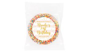 Striped Gold Confetti Custom Birthday Giant Freckles