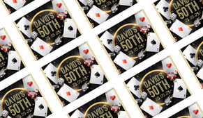 Casino Birthday Personalised Mini Chocolate Favours