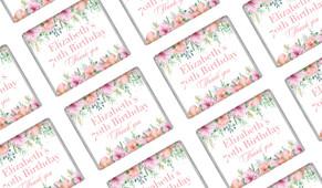 Beautiful Blossoms Birthday Custom Mini Chocolates