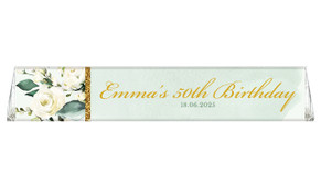Elegant Greenery Custom Toblerone Chocolate Bar
