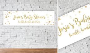 Twinkle Twinkle Personalised Baby Shower Banner