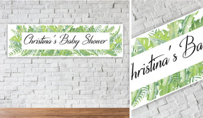 Leaves Personalised Baby Shower Banner