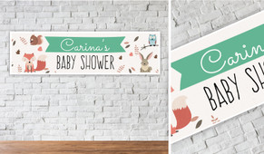 Little Critters Personalised Baby Shower Banner