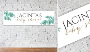 Eucalyptus Personalised Baby Shower Banner