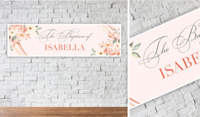 Classic Personalised Christening Banner