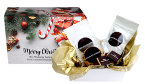 Christmas Background Personalised Hot Chocolate Kit