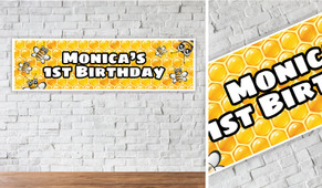 Bumble Bee Personalised Birthday Banner