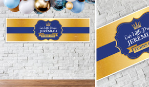 Little Prince Personalised Birthday Party Banner