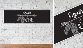 Boho Arrow Personalised Birthday Party Banner