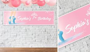 Ballet Shoes Personalised Birthday Banner