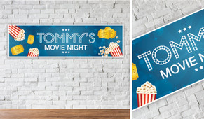 Movie Nights Personalised Birthday Party Banner
