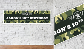 Army Personalised Birthday Party Banner