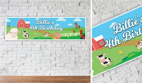 Down The Farm Personalised Birthday Banner