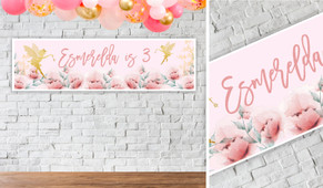 Little Fairy Personalised Birthday Banner