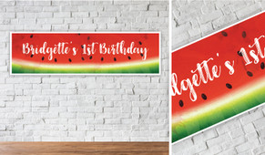Watermelon Personalised Birthday Party Banner