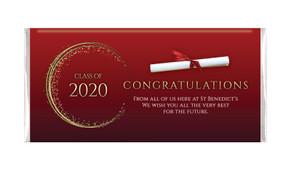 Diploma Personalised Graduation Chocolate Bar