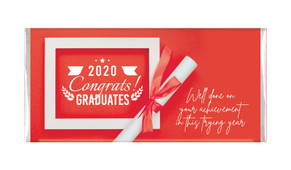 Flat Lay Graduation Personalised Chocolate Bar - In Red