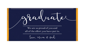 Flowing Text Graduation Personalised Chocolate Bar