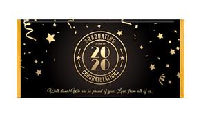 Badge Year Graduation Personalised Chocolate Bar