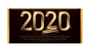 Golden Numbers Personalised Graduation Chocolate Bar