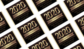 Golden Numbers Personalised Graduation Mini Chocolates