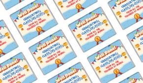 Primary School Personalised Graduation Mini Chocolates