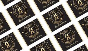 Badge Year Personalised School Graduation Mini Chocolates