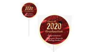 Red Curtain Personalised School Graduation Lollipops