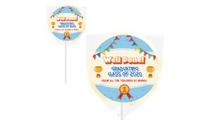 Primary School Personalised School Graduation Lollipops