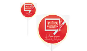 Flat Lay Personalised School Graduation Lollipops