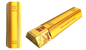 Personalised Gold Bullion Bar Incl. 3 x 100g Toblerone Bars