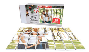 Christmas Background Personalised Christmas Chocolate Puzzle (48-Piece)