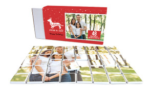 Dachshund Through The Snow Personalised Christmas Chocolate Puzzle (48-Piece)