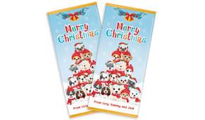 Christmas Puppies Personalised Christmas Chocolate Bar