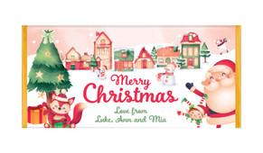 Christmas Village Personalised Christmas Chocolate Bar