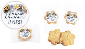 Navy Gold Gifts Christmas Personalised Cookie 5g
