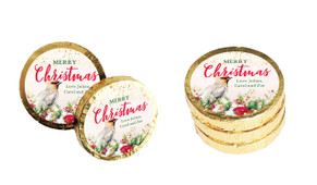 Beautiful Bird Christmas Chocolate Coins (Gold Or Silver)