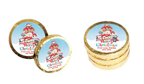 Christmas Puppies Christmas Chocolate Coins (Gold Or Silver)