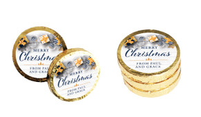 Navy Gold Gifts Christmas Chocolate Coins (Gold Or Silver)