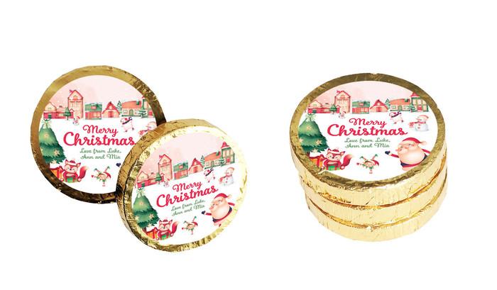 Christmas Village Christmas Chocolate Coins