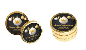 Luxury Black Christmas Chocolate Coins (Gold Or Silver)