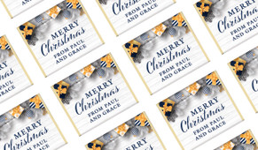 Navy Gold Gifts Personalised Christmas Mini Chocolates