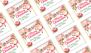 Christmas Village Personalised Christmas Mini Chocolates