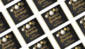 Luxury Black Personalised Christmas Mini Chocolates