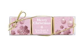 Pink Theme Christmas Mini Chocolate Trio Favour