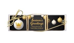 Luxury Black Christmas Mini Chocolate Trio Favour
