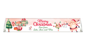 Christmas Village Personalised Christmas Toblerone Chocolates