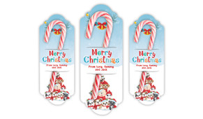 Christmas Puppies Personalised Candy Cane Card